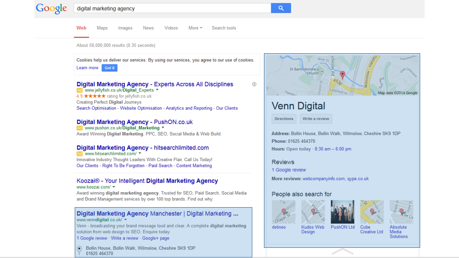 'Digital Marketing Agency' Search