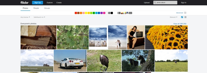 An example Flickr search