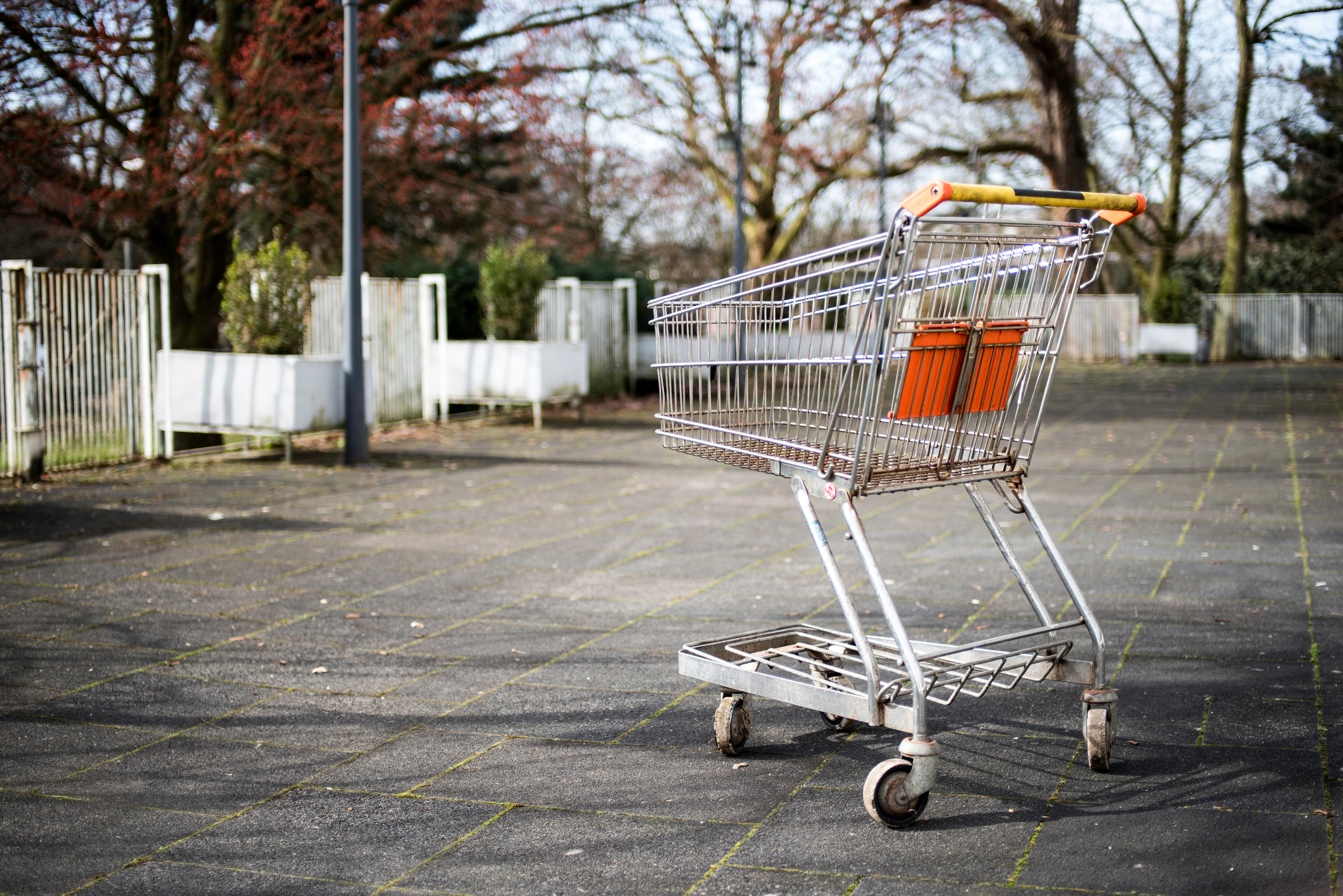 empty shopping trolley