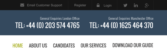 An improved example of a website's phone numbers on a navigation bar
